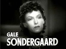 Learn more about Gale Sondergaard